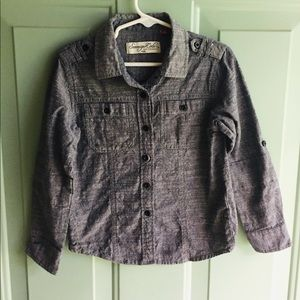 Kids denim button down
